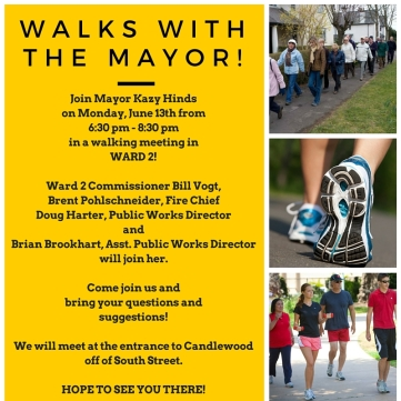 Walks with the mayor.2!